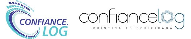 Logotipo antigo à esquerda e a nova marca da Confiancelog à direita
