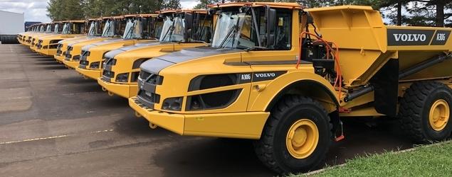 Volvo CE exporta 50 caminhões articulados para a Europa